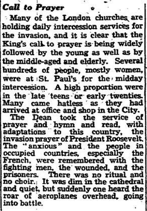 The Manchester Guardian, 8 June 1944.