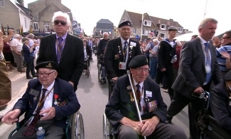 The final parade of the Normandy veterans.