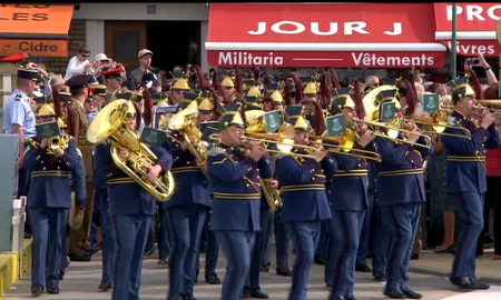 Military band at the Arromanches parade.