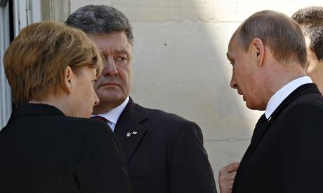 Владимир Путин на мирных переговорах с президентом Украины в День «Д»