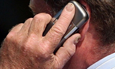 A mobile phone user