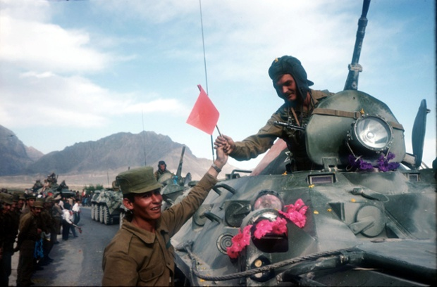 The Soviet-Afghan War, started in 1978 and which involved Soviet troops in support of the Marxist People's Democratic Party of Afghanistan against the Mujahideen, came to an end in May 1988 when Afghanistan, Pakistan, the USSR, and the US signed agreements to end foreign intervention in Afghanistan.