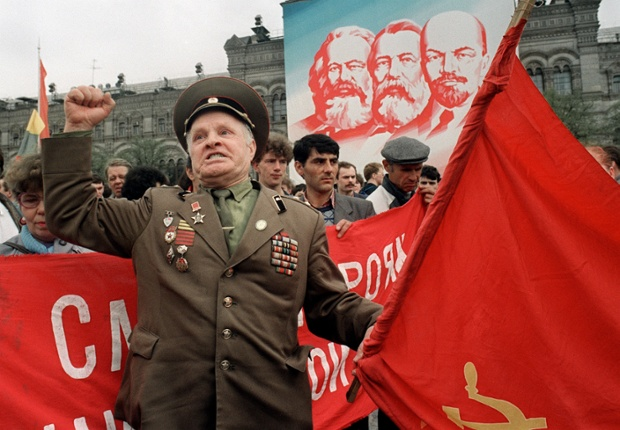 Popular amongst the reformists, Gorbachev had split the country and his acceptance of greater press freedoms and the citizens' right to protest, allowed for regular demonstrations against Gorbachev's policies. During the May Day Parade in 1990 Gorbachev was booed by opposition protestors.