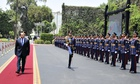 President Abdel Fattah al-Sisi reviews guards of honor after he was sworn in as president of E