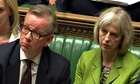 Michael Gove and Theresa May  at prime minister's questions