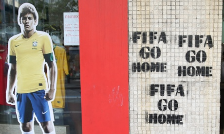 fifa go home brazil world cup protest