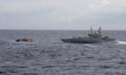 Customs vessel hails an asylum seeker boat