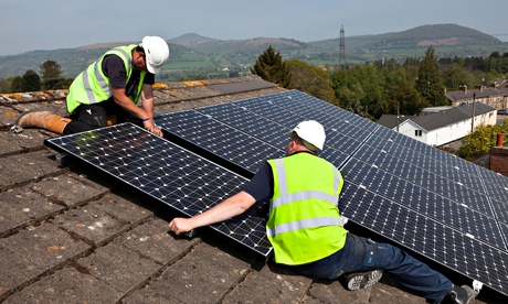 fitting solar panels