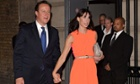 David and Samantha Cameron arrive for the Conservative party summer ball at Old Billingsgate Market