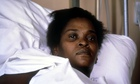 Cherry Groce at St Thomas' hospital in London after she was accidentally shot by police