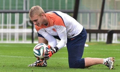Jasper Cillessen during a Dutch training session.