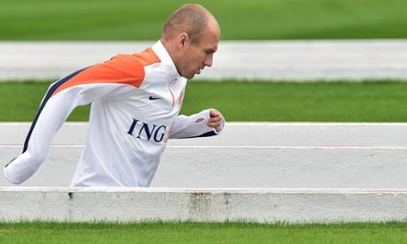 Arjen Robben at the Pacaembu.