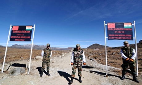 Bumla pass at the India-China border in Arunachal Pradesh
