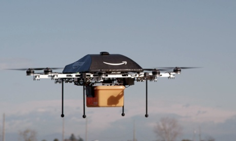 Amazon 'Prime Air' would use 'octocopter' mini-drones to deliver small packages to consumers.