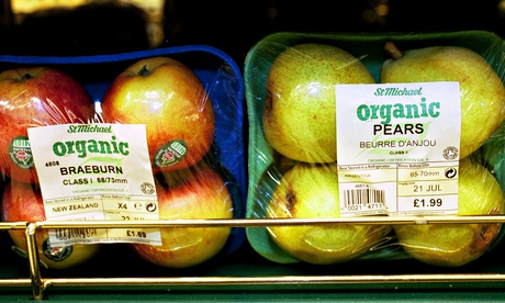Organic apples and pears. Photograph: David Sillitoe for the Guardian