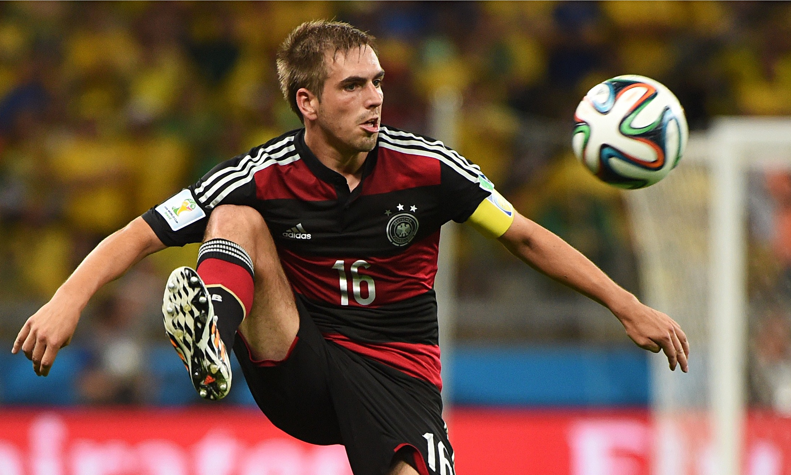 germany�s philipp lahm a quiet leader standing on the