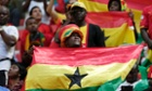 Ghanaian fans at the group match against Portugal in Brasilia.