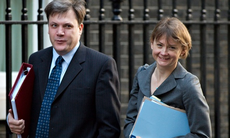 Yvette Cooper with her husband, shadow chancellor Ed Balls, in 2008