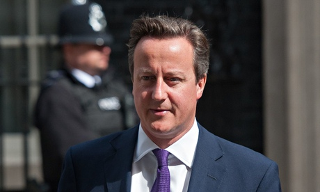 David Cameron outside 10 Downing Street