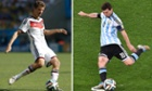 Germany's Thomas Müller and Argentina's Lionel Messi. Final time!