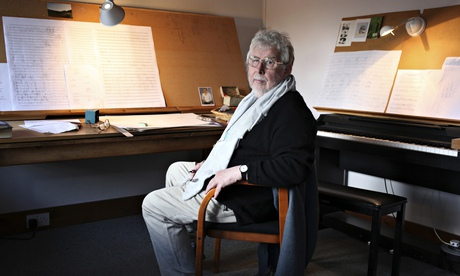 Harrison Birtwistle in his studio