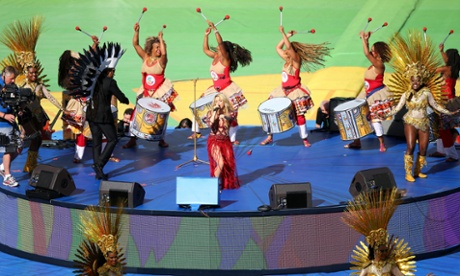 Shakira performs during the closing ceremony