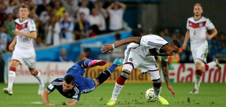 Jerome Boateng has put in a sterling performance in the centre of the German defence.
