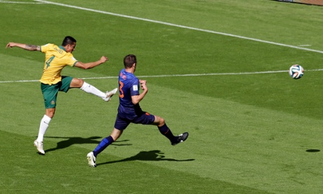 Tim Cahill's volley off the underside of the bar against Holland is Barney Ronay's goal of the tournament.