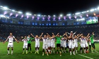 The Germany World Cup-winning team following their victory over Argentina