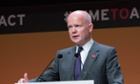 William Hague speaking at the Global Summit to End Sexual Violence in Conflict in London last month.