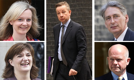 (Clockwise from top left): Liz Truss, Michael Gove, Philip Hammond, William Hague and Nicky Morgan