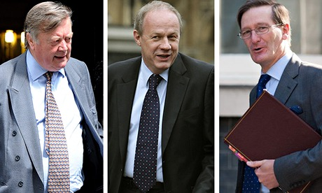 Composite of Ken Clarke, Damian Green and Dominic Grieve