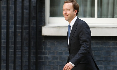 Britain's new minister for energy, business and enterprise, Matthew Hancock, at 10 Downing Street.