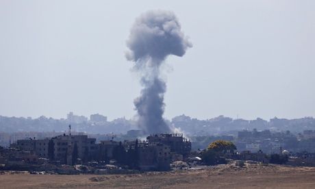 An explosion in the northern Gaza Strip, after Israel resumed air strikes.
