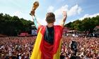 Germany team celebrates in Berlin