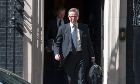 Michael Gove leaving Number 10 after being appointed the new chief whip.