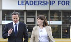 David Cameron with Nicky Morgan, the new education secretary.