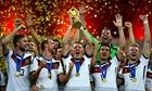 Germany with the World Cup trophy