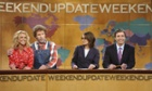 Britney Spears, Will Ferrell, Tina Fey, Jimmy Fallon during the Weekend Update of Saturday Night Live.