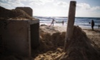 A bomb shelter on the beach in the southern Israeli city of Ashdod.