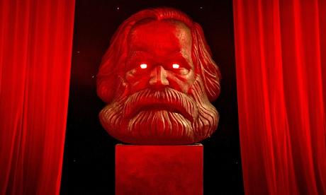 Karl Marx sculpture