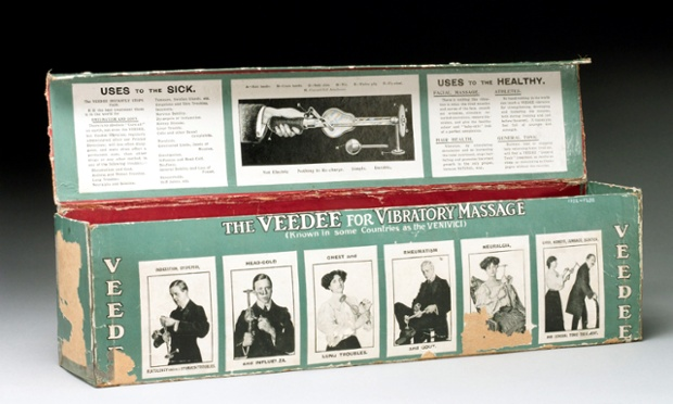 Veedee vibratory massager box, German, early 20th century