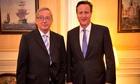 Cameron Juncker on EU reform
