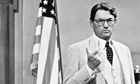 Gregory Peck as Atticus Finch in To Kill a Mockingbird