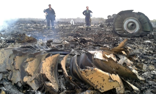 Site of MH17 plane crash
