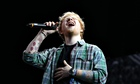 Ed Sheeran performing at T in the Park.