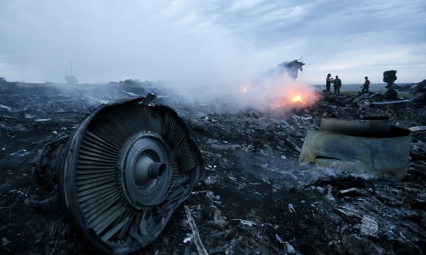 Te crash site of the Malaysia Airlines flight MH17 in east Ukraine near Grabovo.