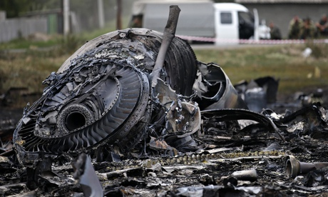 Debris found at the site of the MH17 plane crash. Photograph: Maxim Zmeyev/Reuters