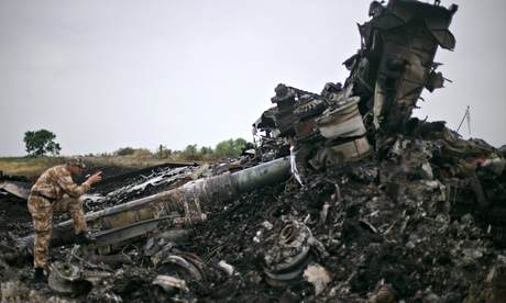 Wreckage of Malaysia Airlines flight MH17 in Donetsk region