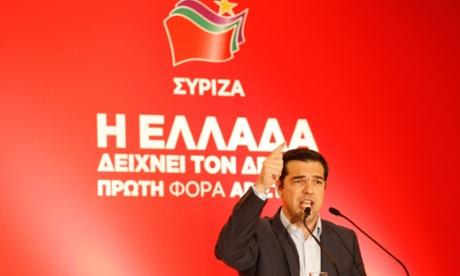Syriza leader Alex Tspirias